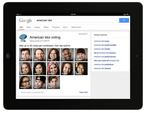 toekomstige zoekresultaten voor American Idol